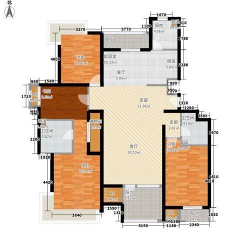 8哩岛3室0厅2卫1厨162.00㎡户型图