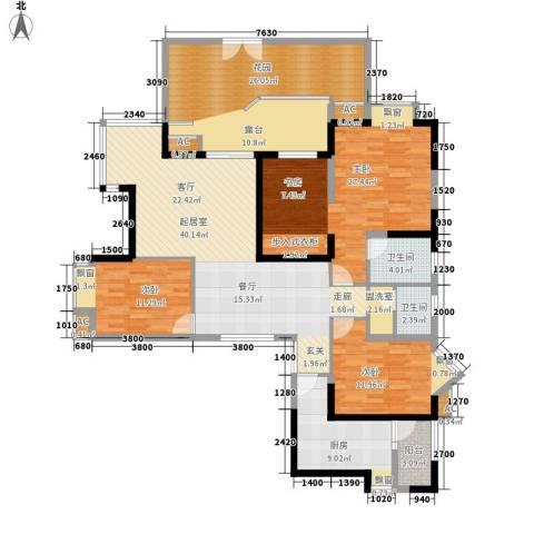 锦江帆影3室0厅2卫1厨151.00㎡户型图