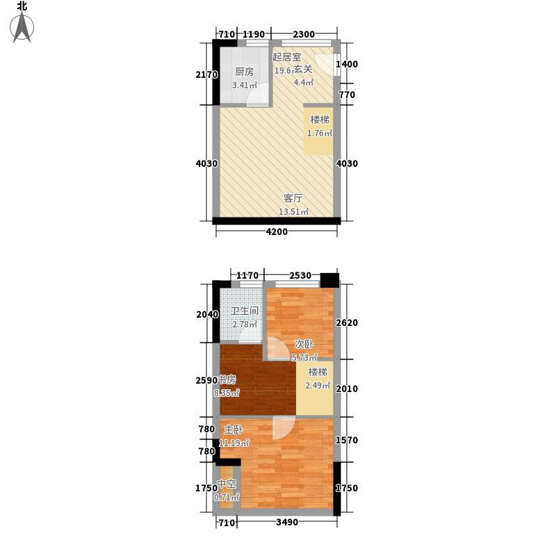 同景国际城33.81㎡一期9/10号楼面积3381m户型