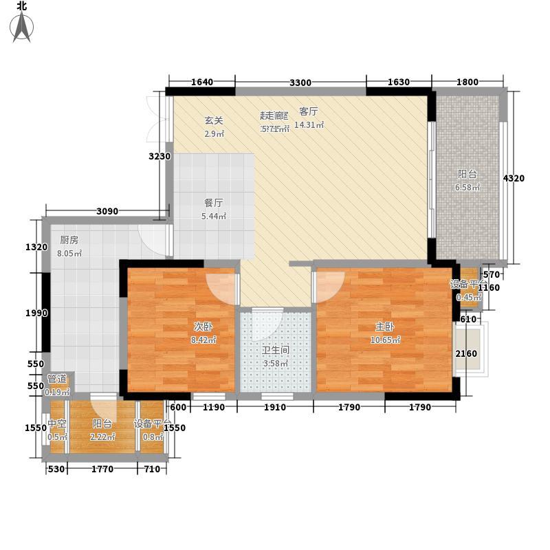 兴茂盛世国际88.65㎡一期6号楼标准层c4户型