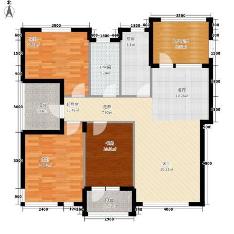 御廷上郡3室0厅1卫1厨141.00㎡户型图