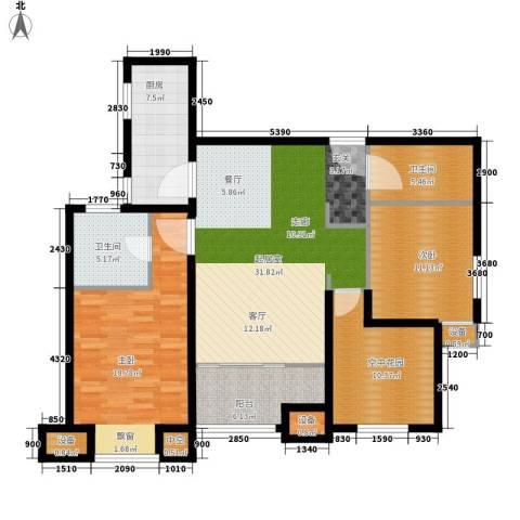 世家英伦2室0厅2卫1厨113.00㎡户型图