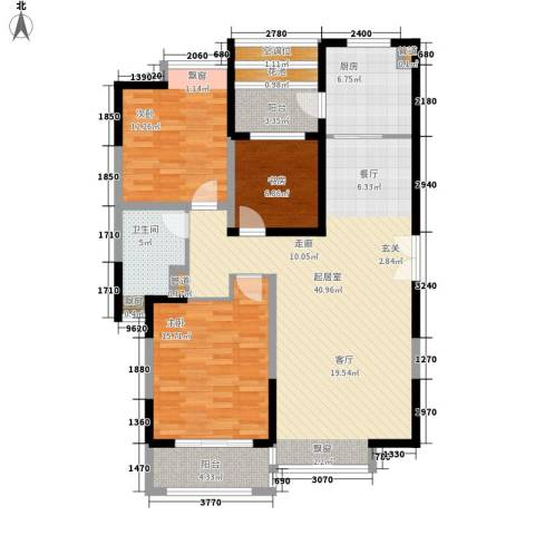 中海万锦城3室0厅1卫1厨113.00㎡户型图