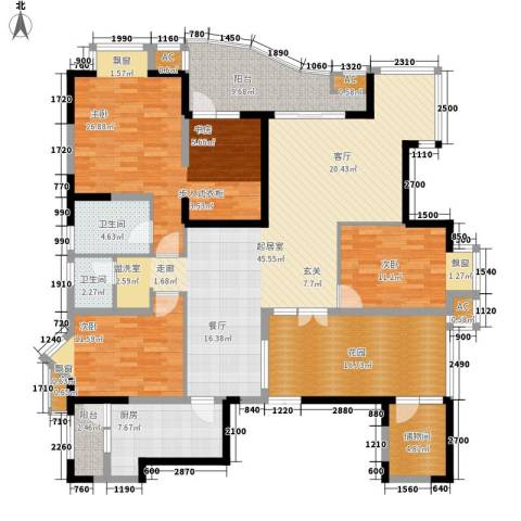 锦江帆影3室0厅2卫1厨145.88㎡户型图