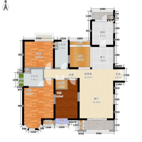 中海万锦城3室0厅2卫1厨145.00㎡户型图