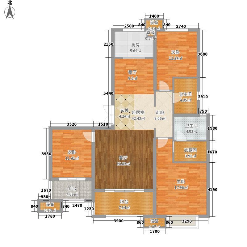 海尔云世界131.00㎡海尔・云世界2地块3号楼E-5户型