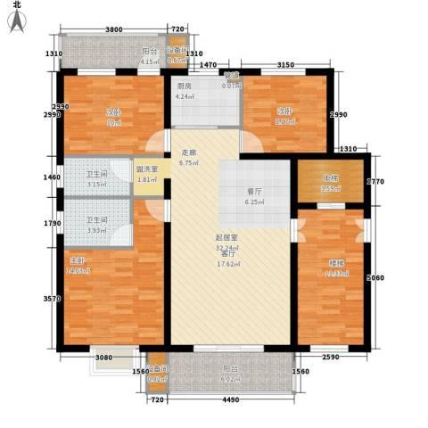 香堤雅墅3室0厅2卫1厨146.00㎡户型图
