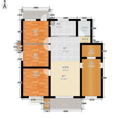 香堤雅墅3室0厅1卫1厨133.00㎡户型图