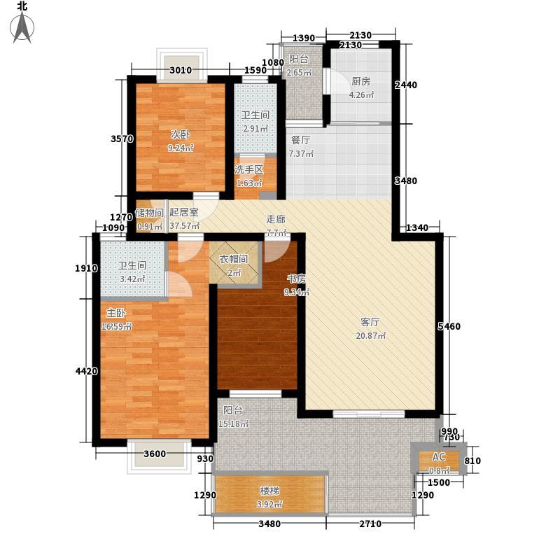 湘翰御舍117.86㎡Q1层面积11786m户型