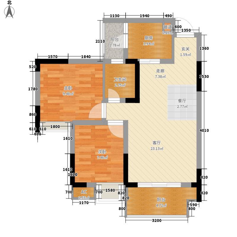 亚热带雅居63.40㎡1栋8号2面积6340m户型