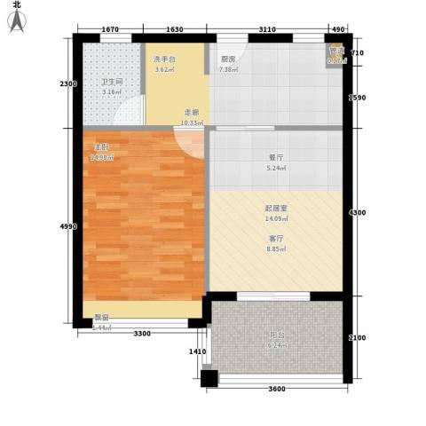 万泉明珠1室0厅1卫0厨65.00㎡户型图