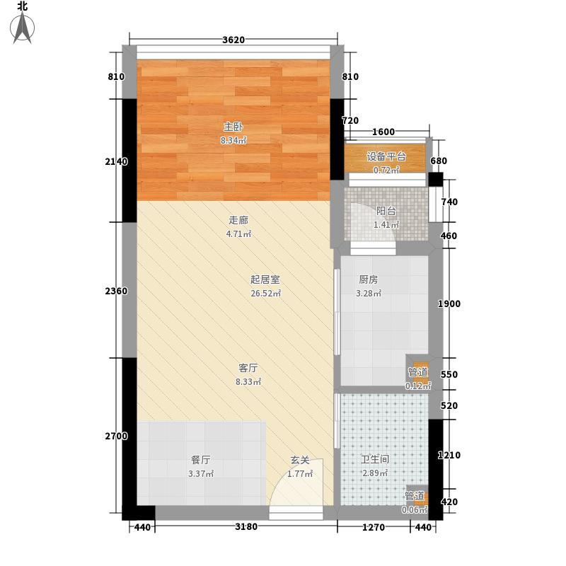 金科西城大院32.96㎡A4-3/4号房面积3296m户型