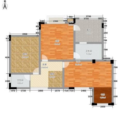 公园一号2室0厅2卫0厨174.00㎡户型图
