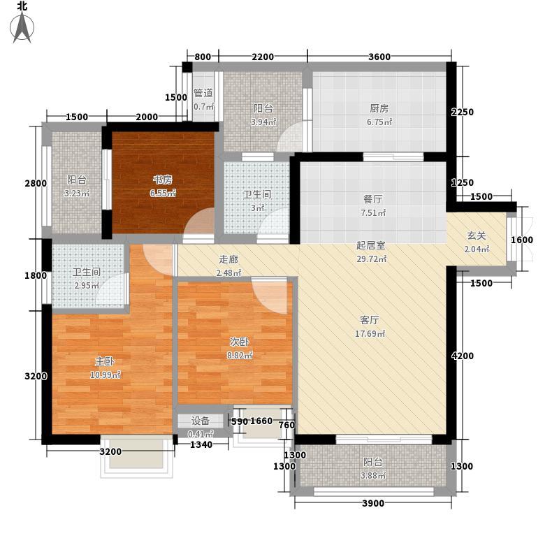金源利青国青城86.00㎡二期8号楼面积8600m户型