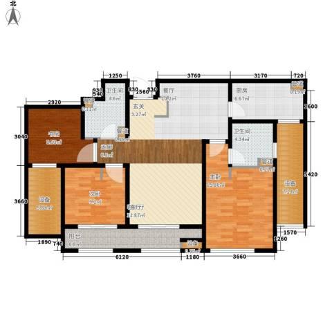 林荫大院3室1厅2卫1厨117.00㎡户型图