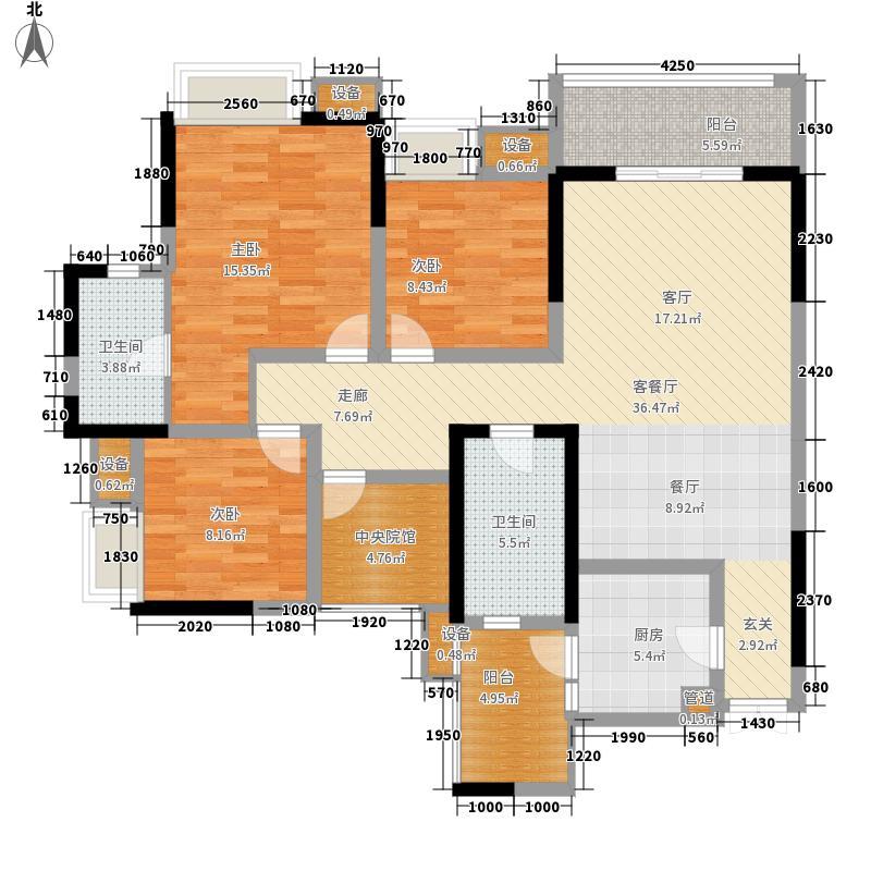 首创鸿恩国际生活区118.00㎡一期面积11800m户型