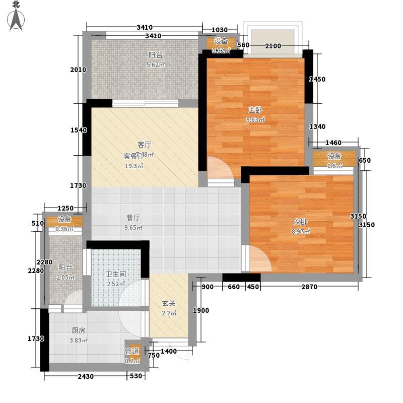 首创鸿恩国际生活区62.70㎡二期面积6270m户型