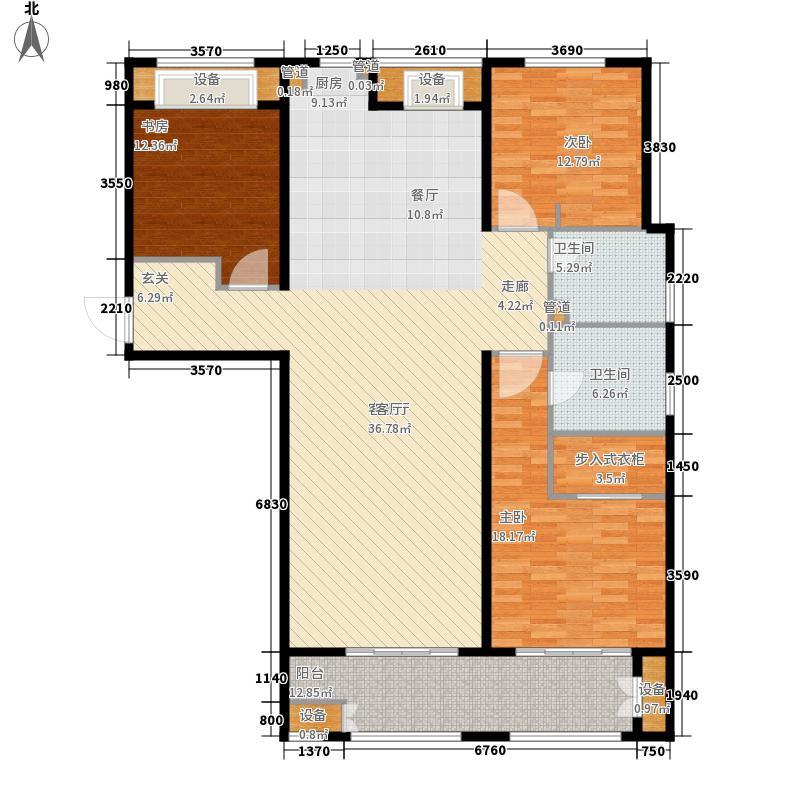林荫大院164.00㎡C8户型3室2厅