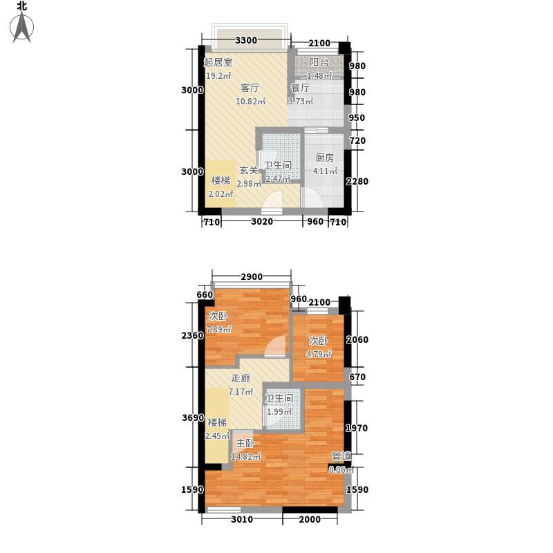 同景国际城60.56㎡一期9/10号楼面积6056m户型