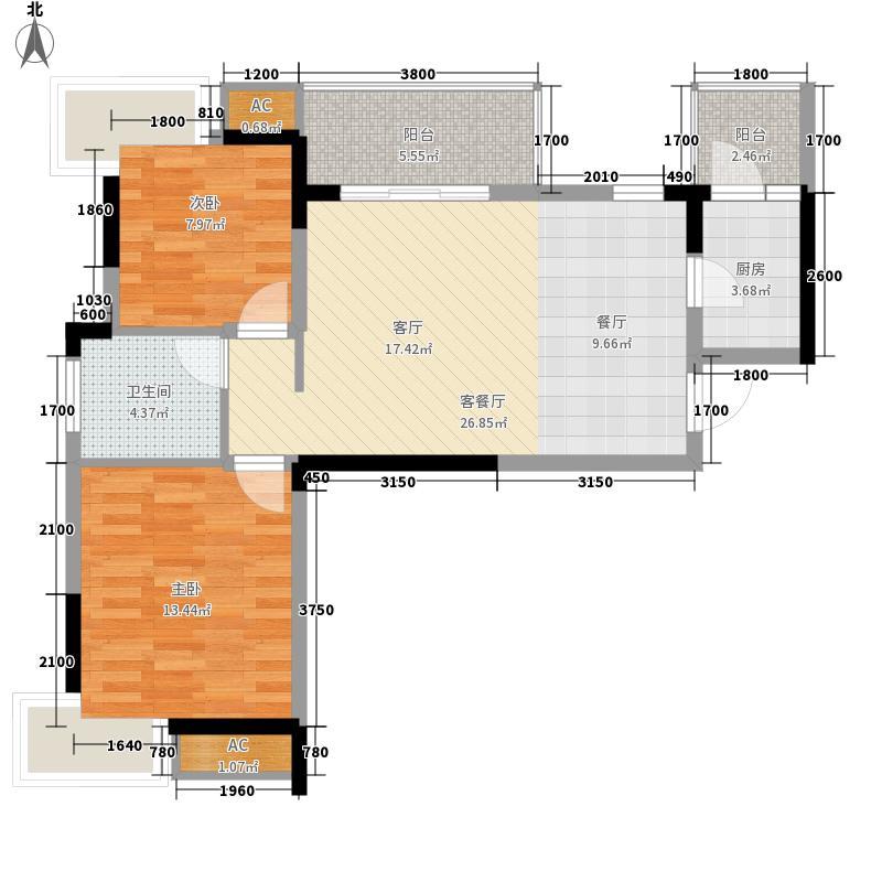 润扬书院阁85.35㎡C3型1面积8535m户型
