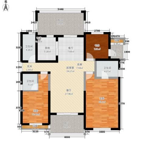 金通黄金海岸3室0厅3卫1厨139.00㎡户型图