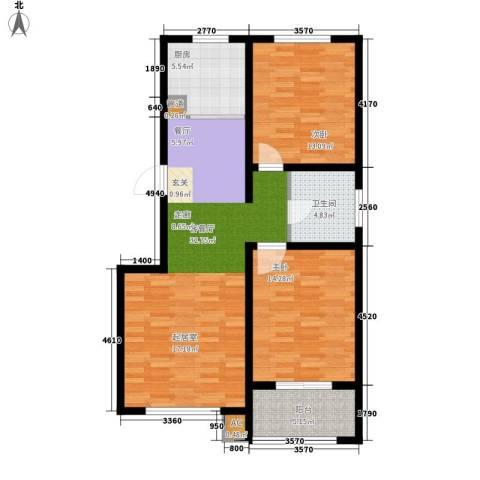 山海国际2室1厅1卫1厨87.00㎡户型图