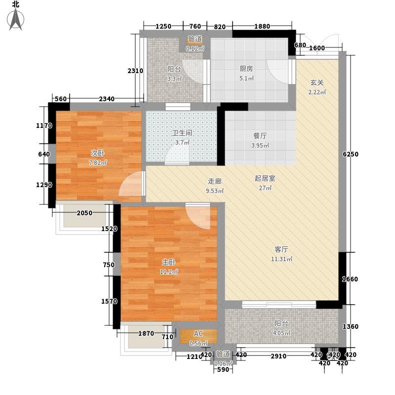 华润中央公园3号楼E5户型2室2厅