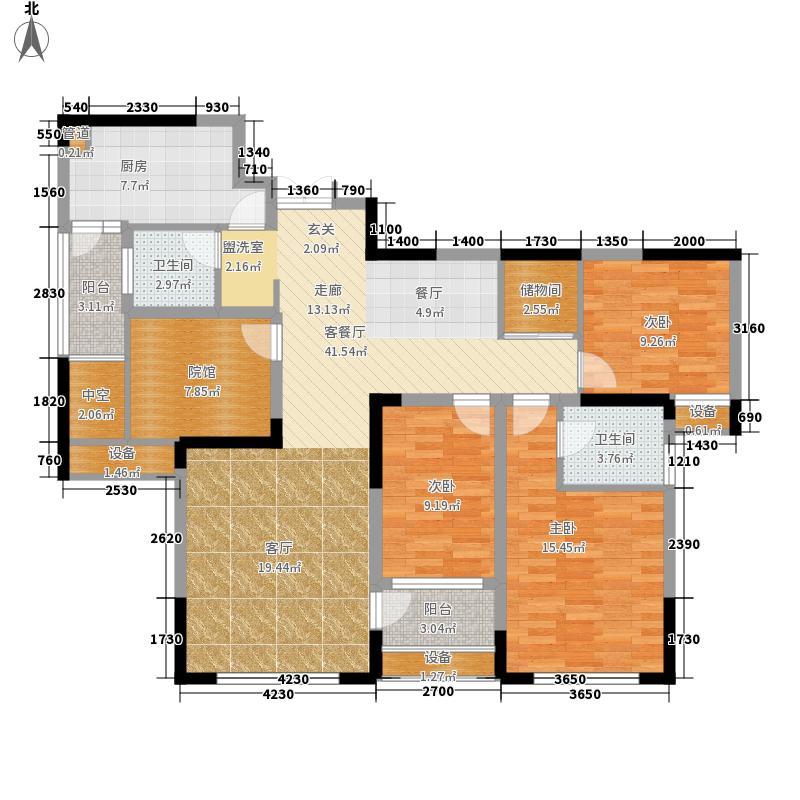 财信城市国际110.01㎡一期5号楼标面积11001m户型