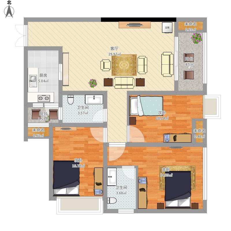 中奥城 3室