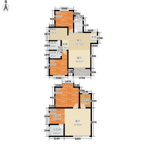 慧翔龙苑3室0厅3卫1厨198.00㎡户型图