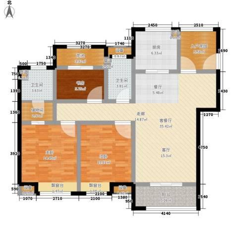 世茂公元3室1厅2卫1厨120.00㎡户型图