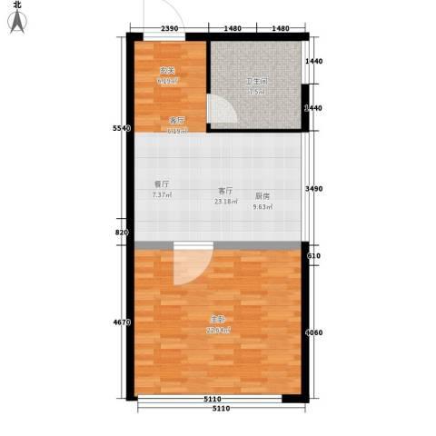南湖领航壹号1室1厅1卫0厨59.00㎡户型图