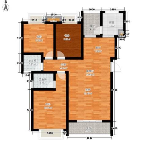 御景东方3室1厅2卫1厨116.00㎡户型图