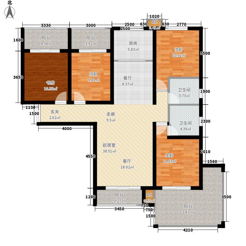 泊水湖1号130.25㎡二期香溪水岸8#楼A户型3室2厅