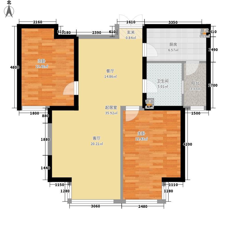水岸公馆116.05㎡6号楼七面积11605m户型