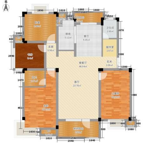 浙水阳光天地3室1厅1卫1厨142.00㎡户型图