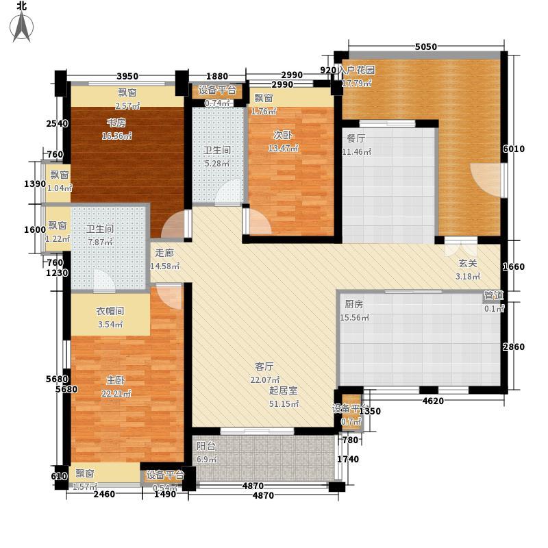 万象城177.00㎡G1户型3室2厅