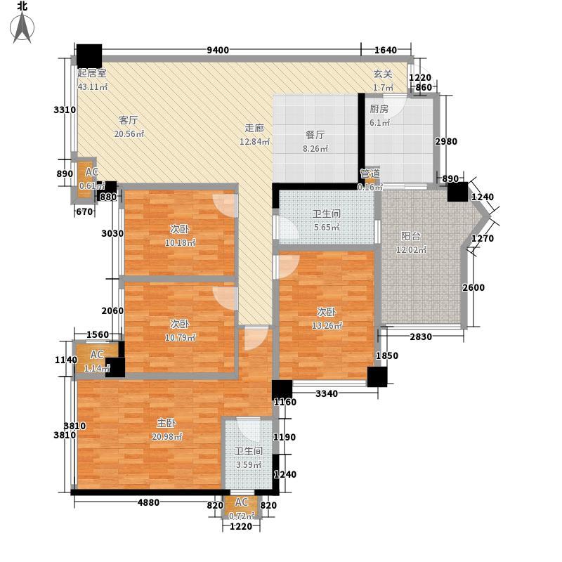 领地国际公馆132.12㎡领地・国际公馆A1户型