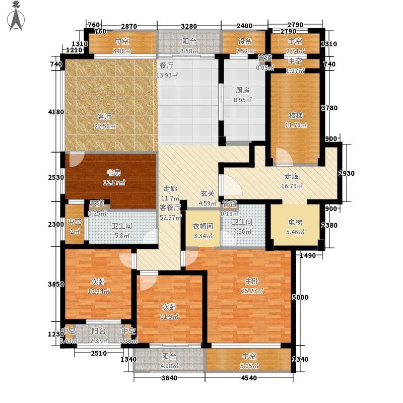 绿城西子・田园牧歌180.00㎡二期听泉苑D户型4室2厅2卫