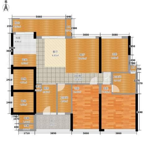 芳邻雅居3室0厅2卫1厨173.00㎡户型图