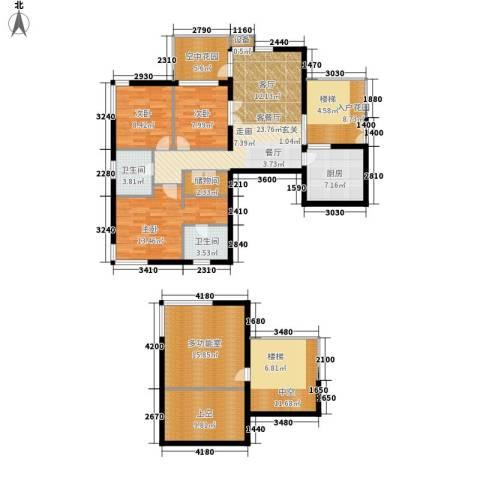 鑫龙天然居3室1厅2卫1厨140.00㎡户型图