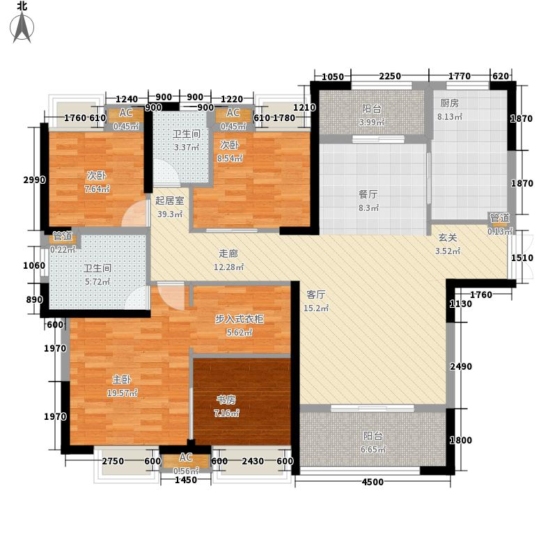 联投喻园144.89㎡1、4、5号楼B户型3室2厅