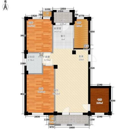 富虹太子城3室0厅1卫1厨117.00㎡户型图