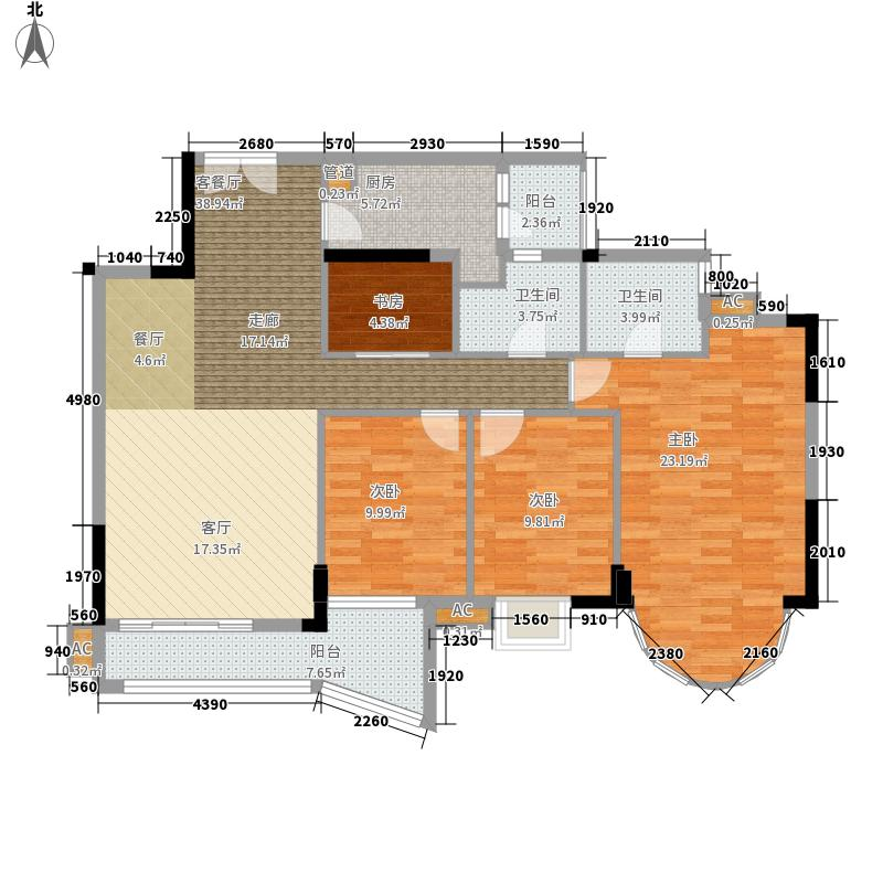罗马家园124.92㎡凯旋庭A-D座户型
