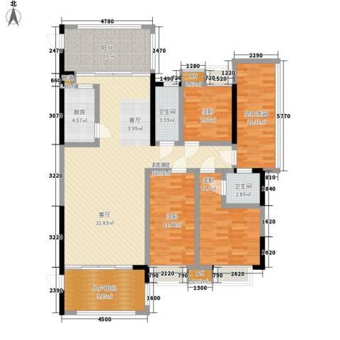 熙岸尚城二期3室0厅2卫1厨150.00㎡户型图