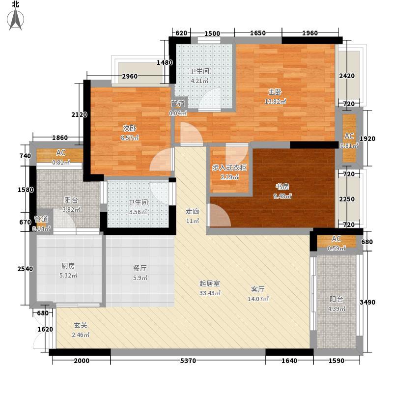 华润中央公园C2户型3室2厅