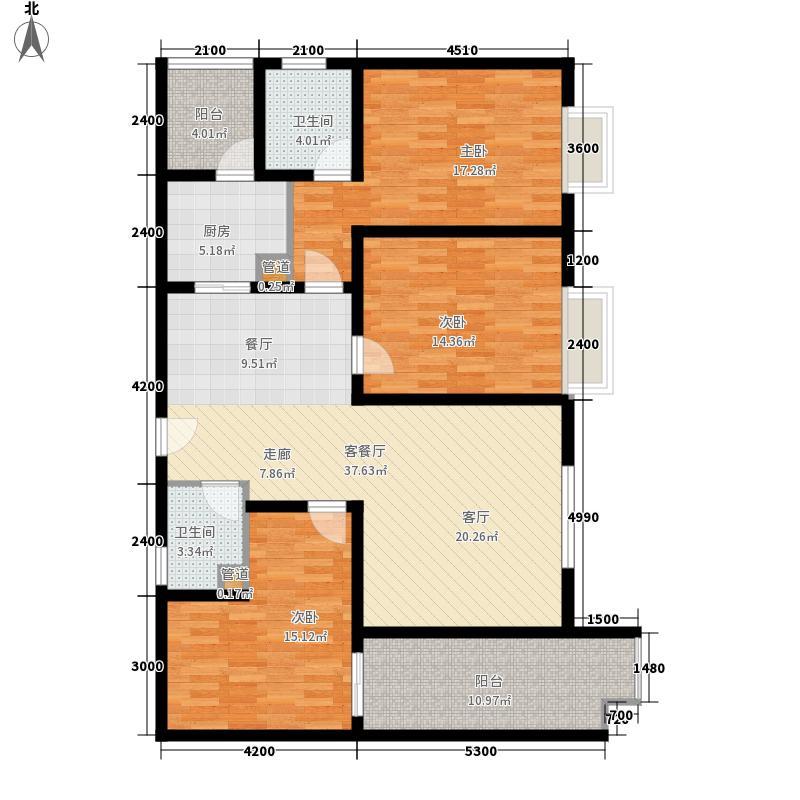 阳光美墅150.56㎡3#楼H3面积15056m户型