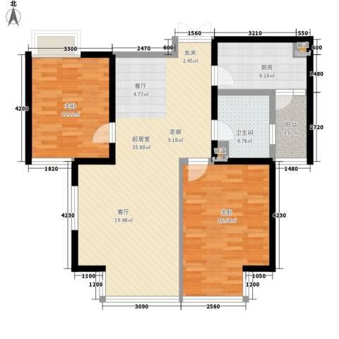 纪发公寓2室0厅1卫1厨112.00㎡户型图