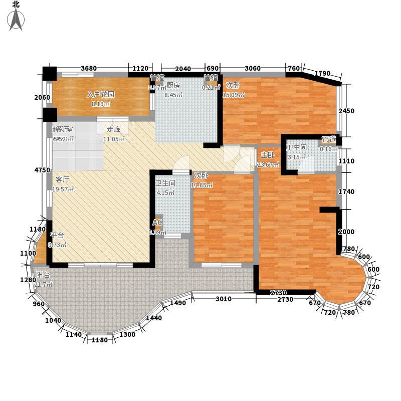 碧桂园十里银滩127.15㎡海景洋房5号楼C1户型