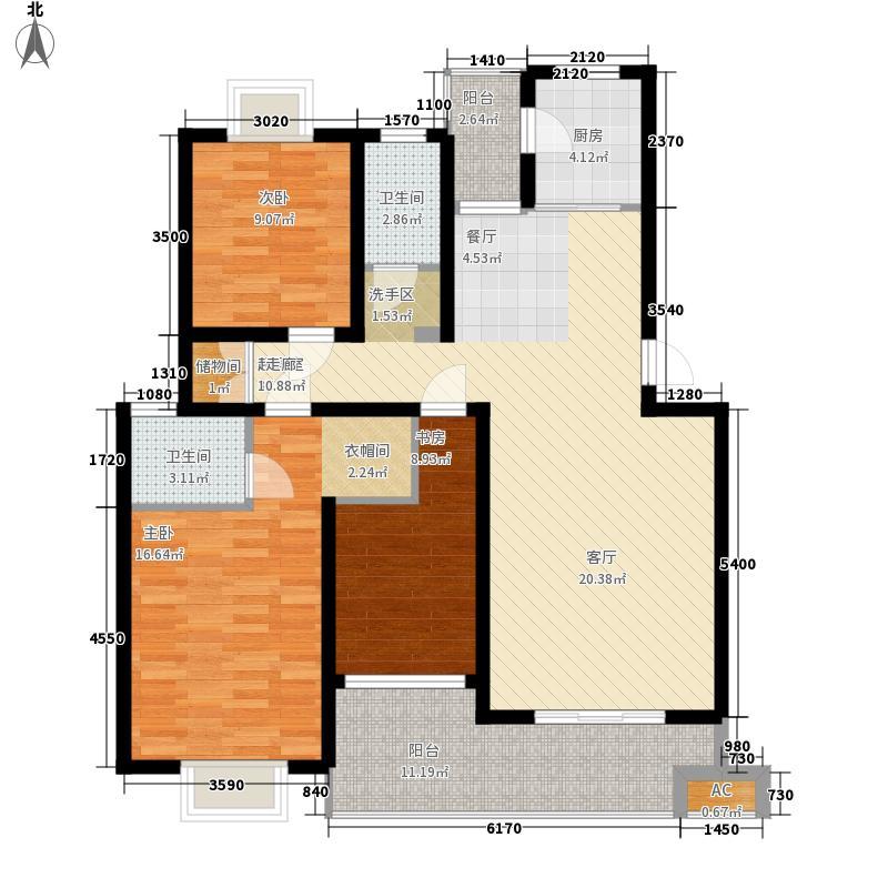 湘翰御舍117.46㎡Q2-6层面积11746m户型